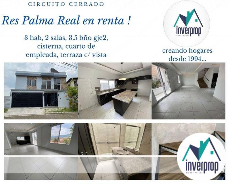 inverprop bienes raices tegucigalpa alquiler casas palma real